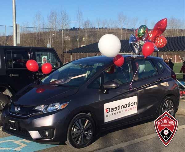 Honda Car with balloons