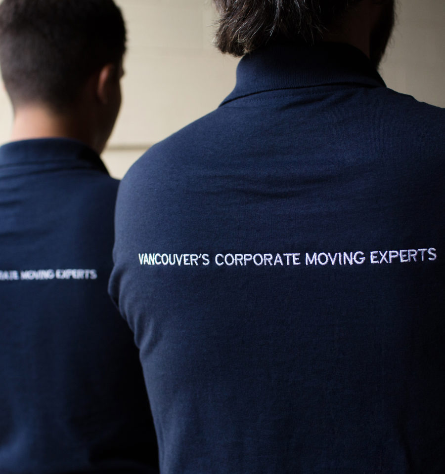 DLO office moving experts - Vancouver's Corporate moving experts DLO shirt