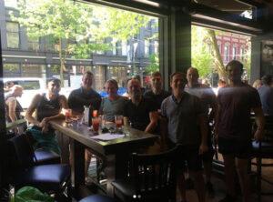 DLO Team getting beer